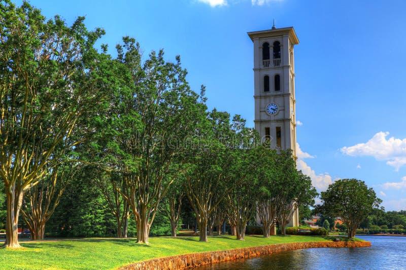 Νότια Καρολίνα ΙΙ πύργων κουδουνιών Furman πανεπιστημιακή στοκ εικόνες