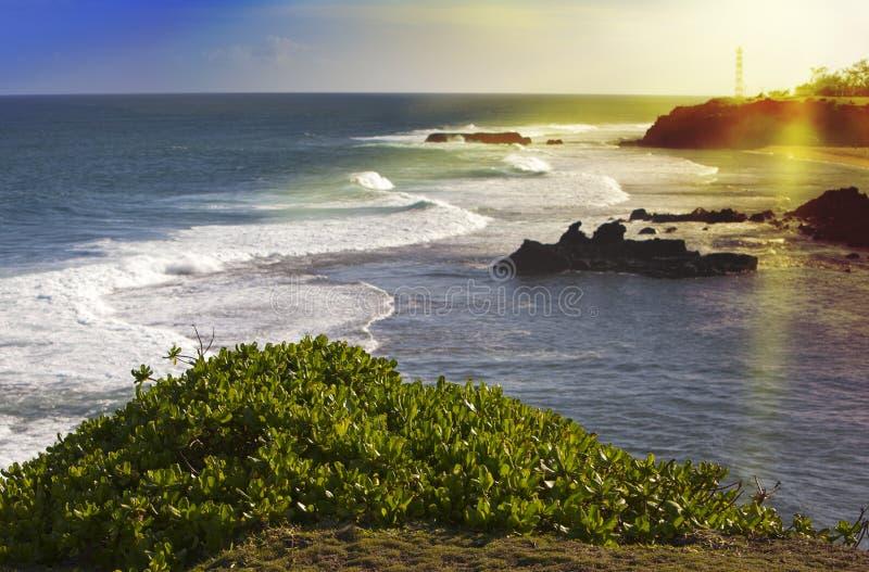 νότια κύματα σκοπέλων του Μαυρίκιου gris ακρωτηρίων απουσίας μεγάλα μεγάλα κύματα στοκ εικόνες