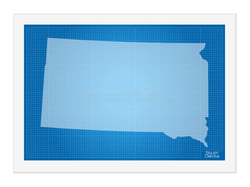 Νότια Ντακότα στο σχεδιάγραμμα διανυσματική απεικόνιση