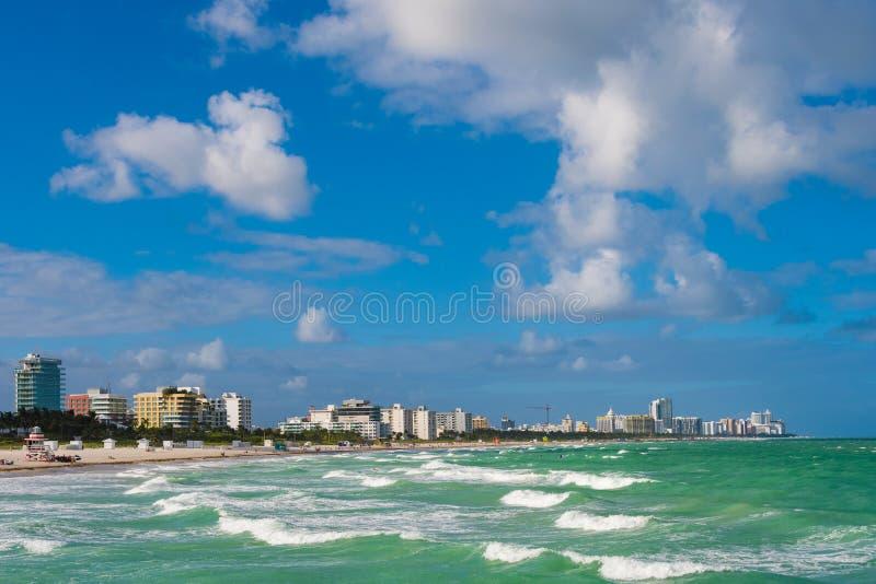 Νότια παραλία, Μαϊάμι Μπιτς, ΛΦ στοκ φωτογραφίες