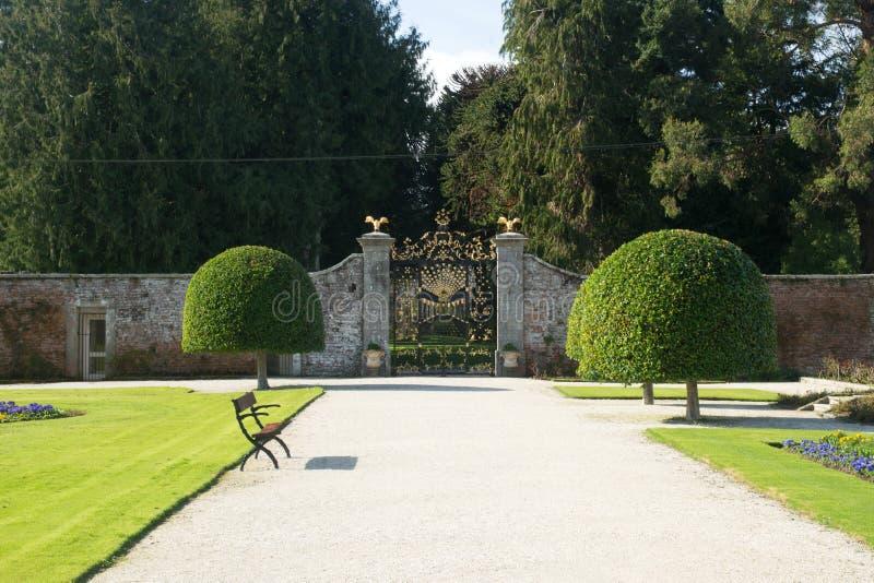 Νότια πύλη του κτήματος Powerscourt, Enniskerry, κομητεία Wicklow, Ιρλανδία στοκ εικόνα