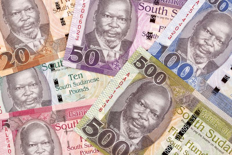 Νότια σουδανέζικα χρήματα, ένα υπόβαθρο στοκ εικόνα