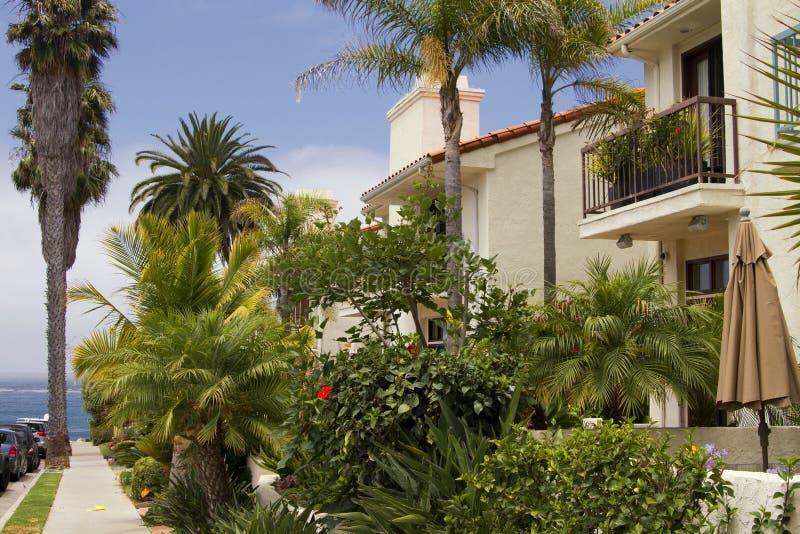 Νότια σπίτια παραλιών Καλιφόρνιας στοκ εικόνα
