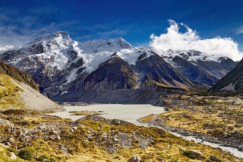 Νότιες Άλπεις, Νέα Ζηλανδία στοκ φωτογραφίες