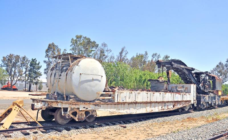 Νότιος ειρηνικός βαρύς ανυψωτικός γερανός διακοπής/συντήρησης σιδηροδρόμου στοκ φωτογραφία