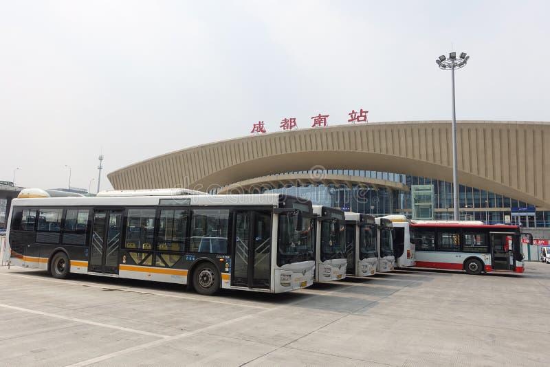 Νότιος σιδηροδρομικός σταθμός Chengdu στοκ φωτογραφίες με δικαίωμα ελεύθερης χρήσης