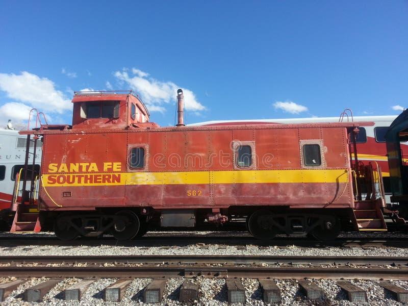 Νότιος σιδηρόδρομος Caboose Σάντα Φε στοκ φωτογραφίες