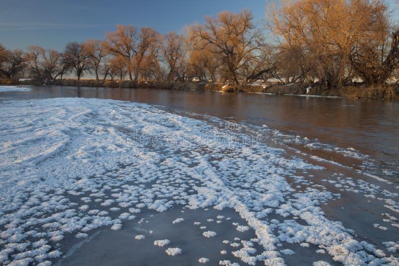 νότιος χειμώνας ποταμών το&u στοκ φωτογραφία με δικαίωμα ελεύθερης χρήσης