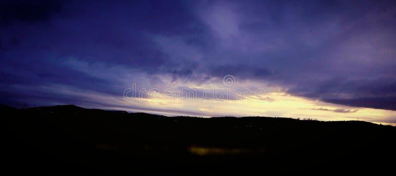 Νότιο ηλιοβασίλεμα του Όρεγκον στοκ εικόνα