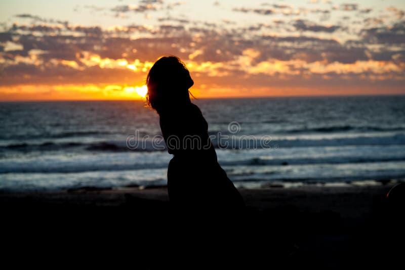 νότιο ηλιοβασίλεμα της Αφρικής στοκ φωτογραφία