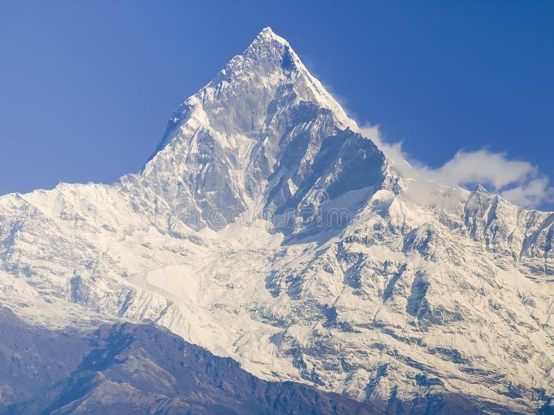 Νότιο πρόσωπο του βουνού μέγιστο Machapuchare, Ιμαλάια, Νεπάλ στοκ εικόνα με δικαίωμα ελεύθερης χρήσης