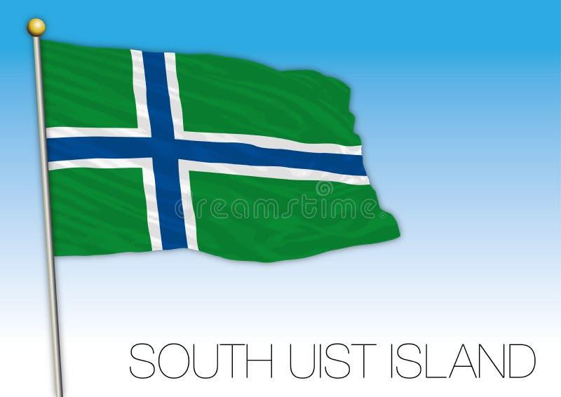 Νότιο Uist ensign νησιών σημαία, Ηνωμένο Βασίλειο, διανυσματική απεικόνιση ελεύθερη απεικόνιση δικαιώματος