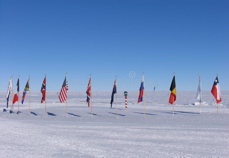 νότος πόλων σημαιών στοκ φωτογραφίες με δικαίωμα ελεύθερης χρήσης