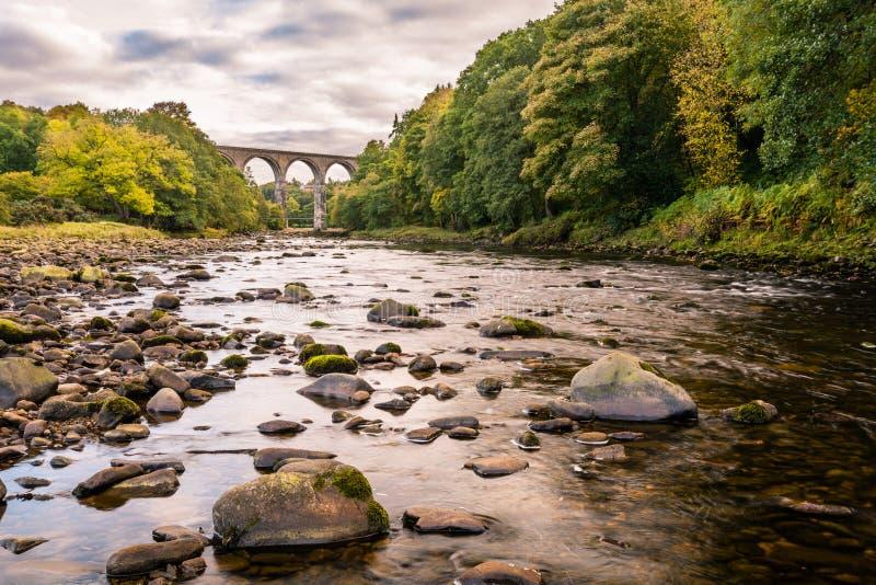 Νότος Τάιν ποταμών και οδογέφυρα Lambley στοκ φωτογραφία με δικαίωμα ελεύθερης χρήσης