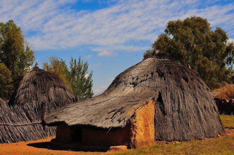 νότος της Αφρικής rondavel στοκ φωτογραφία