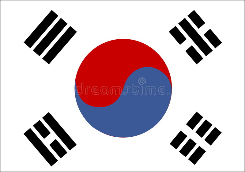 νότος της Κορέας σημαιών απεικόνιση αποθεμάτων