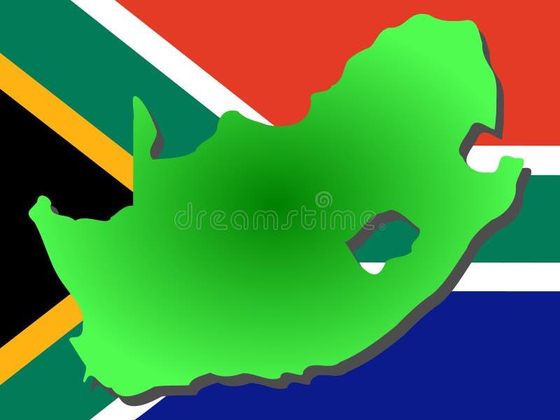 νότος χαρτών της Αφρικής διανυσματική απεικόνιση