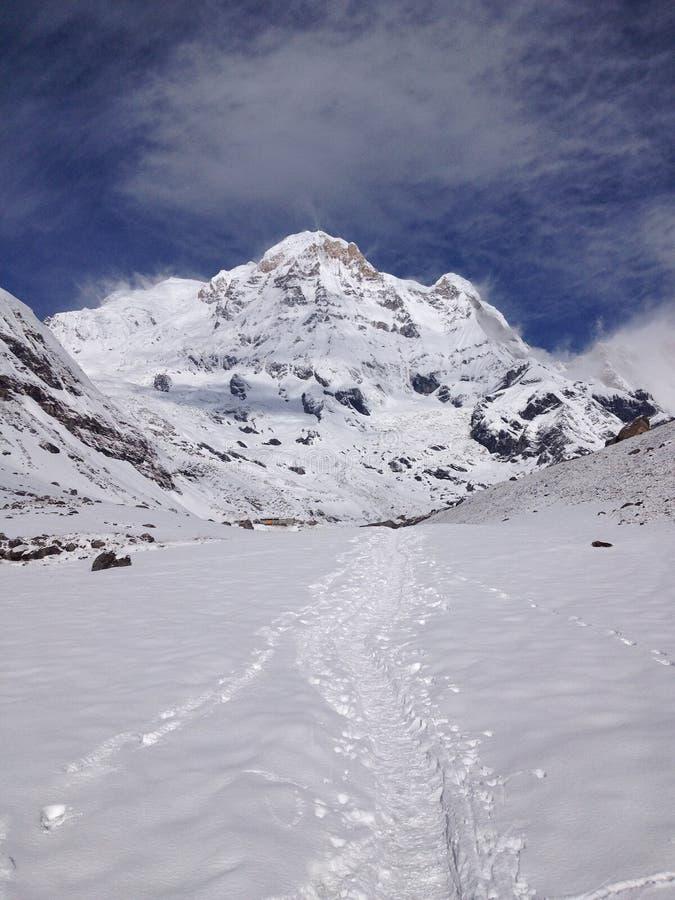 Νότος Annapurna και στρατόπεδο βάσεων - Νεπάλ στοκ φωτογραφίες