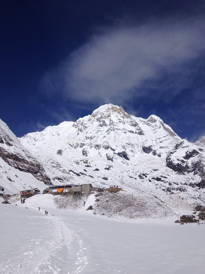 Νότος Annapurna και στρατόπεδο βάσεων - Νεπάλ στοκ εικόνες