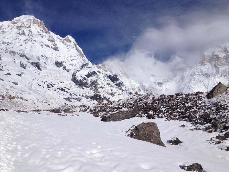Νότος Annapurna και στρατόπεδο βάσεων - Νεπάλ στοκ εικόνες με δικαίωμα ελεύθερης χρήσης