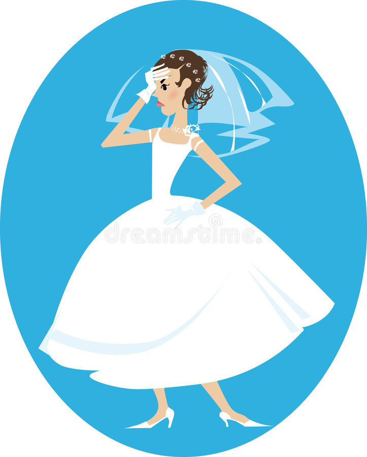 νύφηη διανυσματική απεικόνιση