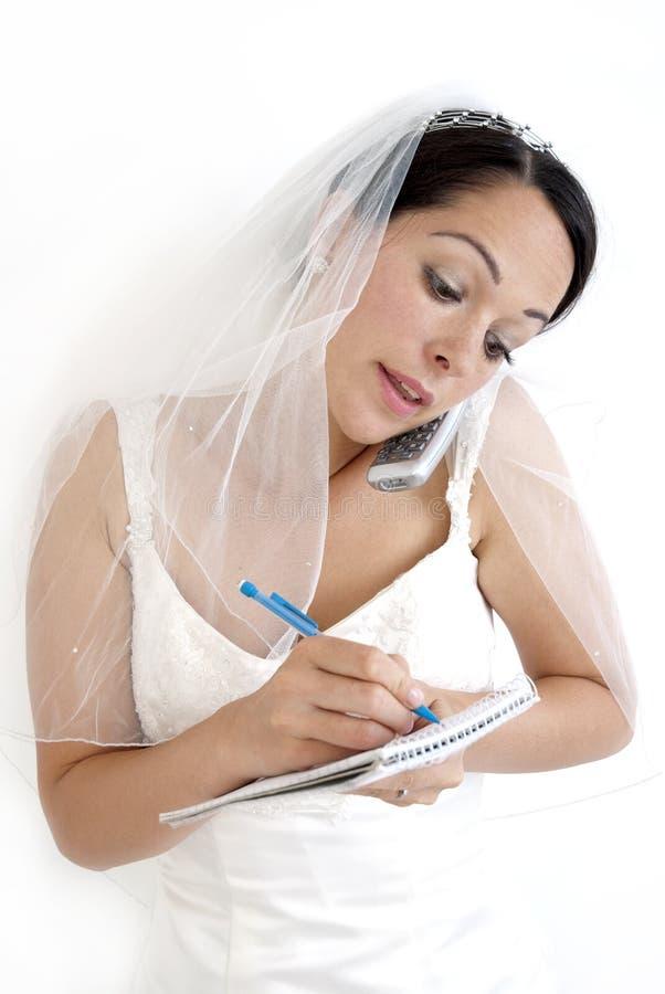 νύφη απασχολημένη στοκ φωτογραφίες