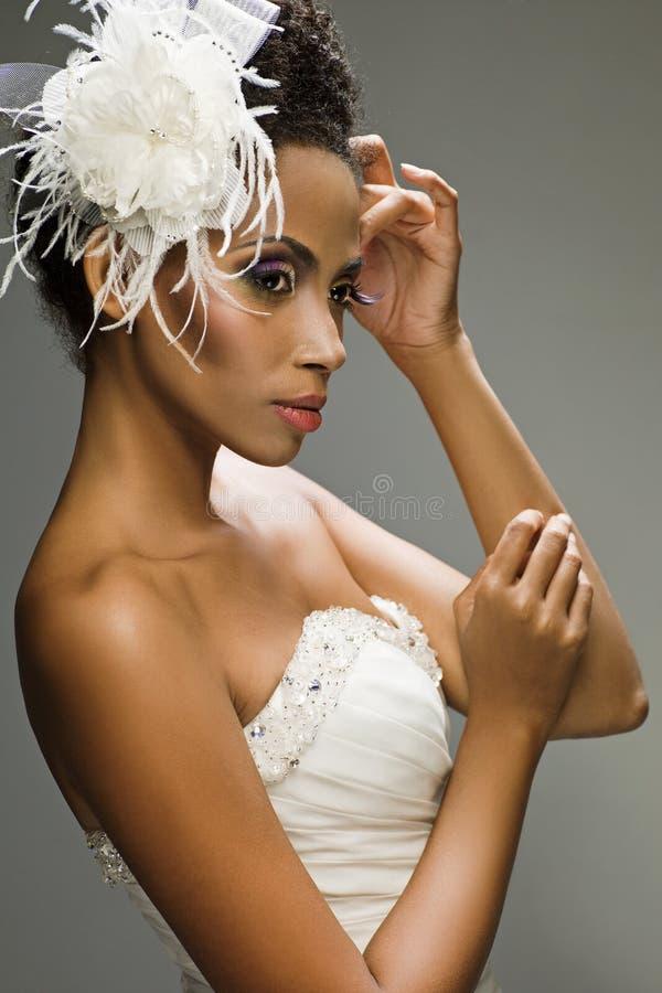 Νύφη αφροαμερικάνων στοκ φωτογραφίες