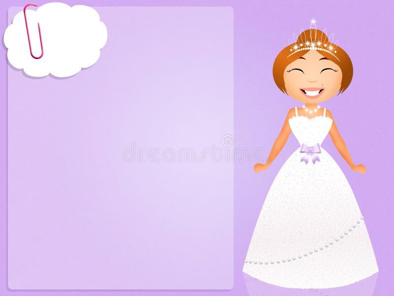 νύφη ευτυχής απεικόνιση αποθεμάτων