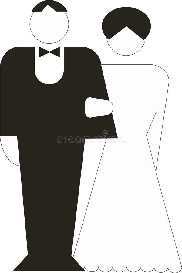 Νύφη και νεόνυμφος απεικόνιση αποθεμάτων