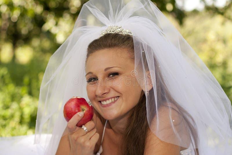 νύφη μήλων στοκ εικόνα