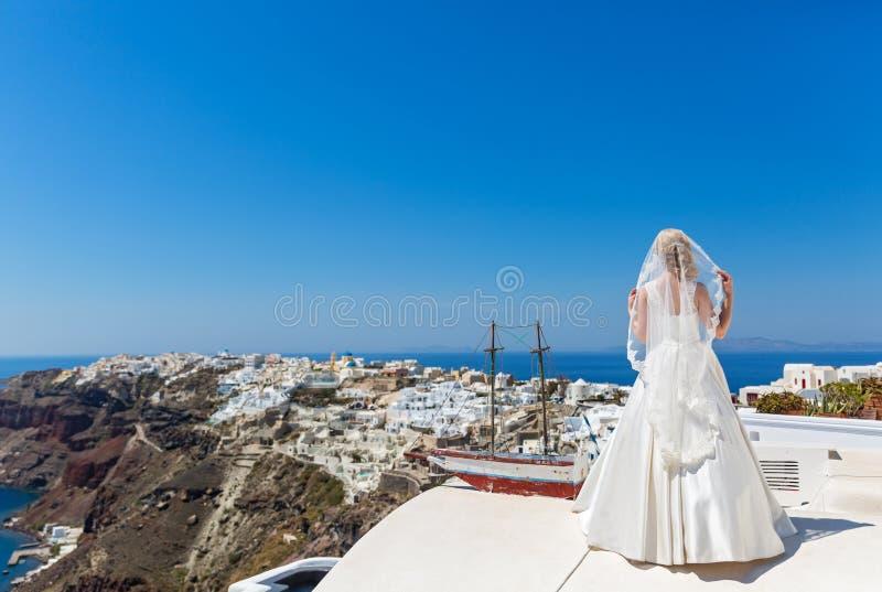 Νύφη σε ένα όμορφο φόρεμα στοκ εικόνα με δικαίωμα ελεύθερης χρήσης