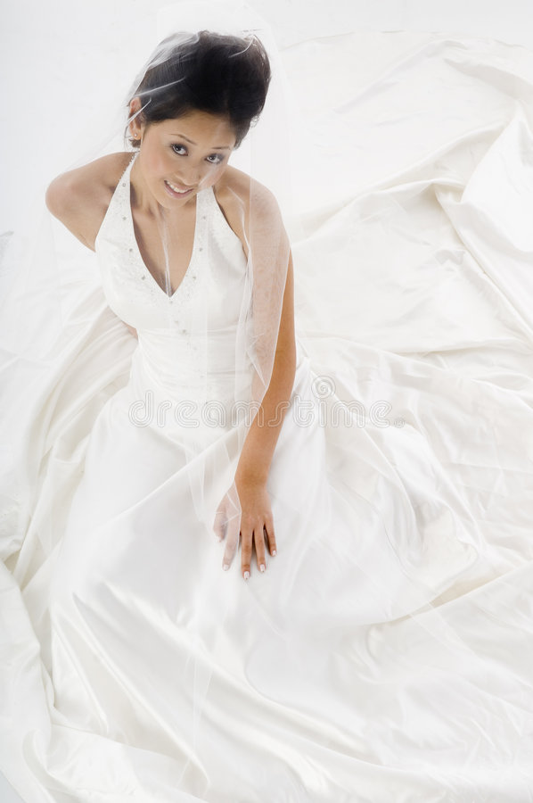 Νύφη στο φόρεμα στοκ εικόνα