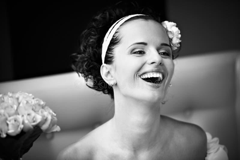 νύφη χαρούμενη στοκ φωτογραφία με δικαίωμα ελεύθερης χρήσης