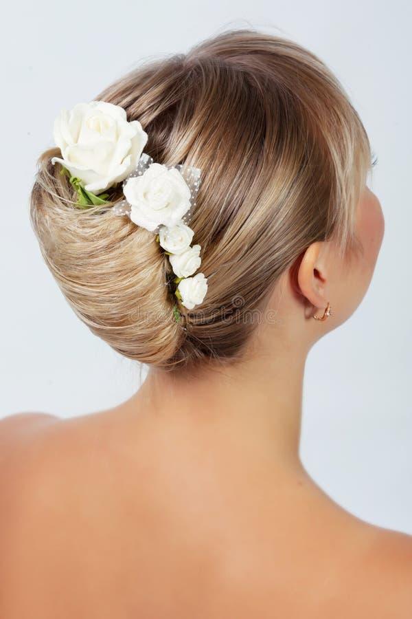 νύφη hairstyle στοκ φωτογραφίες