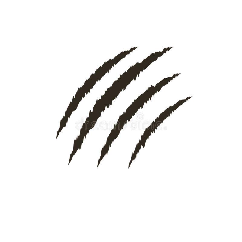 Νύχι του ζώου, γρατσουνιά διάνυσμα απεικόνιση αποθεμάτων