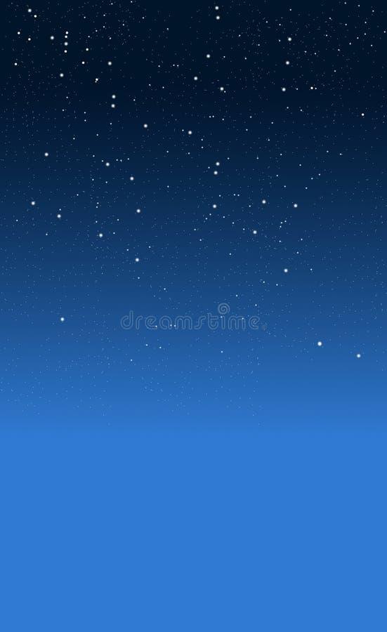 νύχτα έναστρη απεικόνιση αποθεμάτων