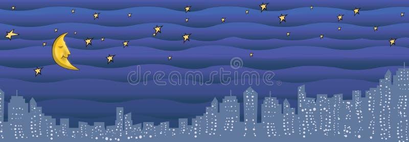νύχτα απεικόνισης πόλεων στοκ εικόνα