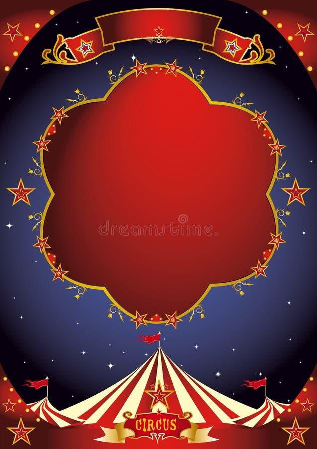 Νύχτα αφισών τσίρκων στοκ εικόνες