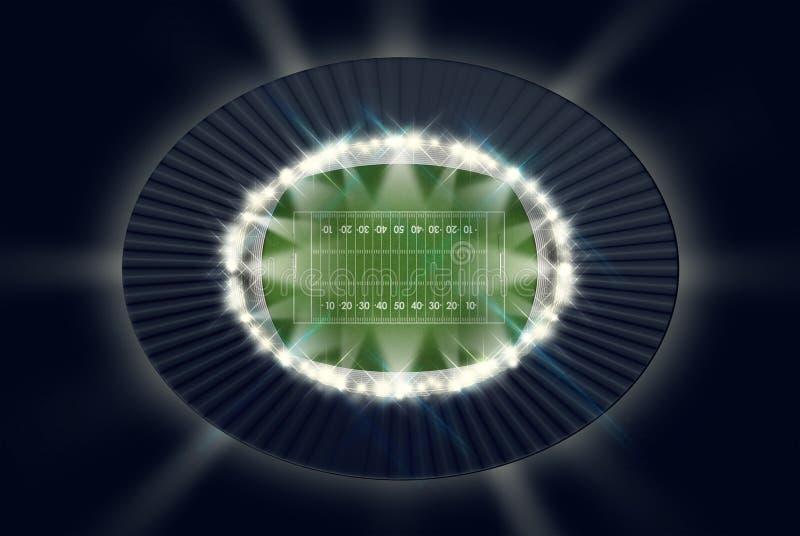 Νύχτα γηπέδου ποδοσφαίρου διανυσματική απεικόνιση