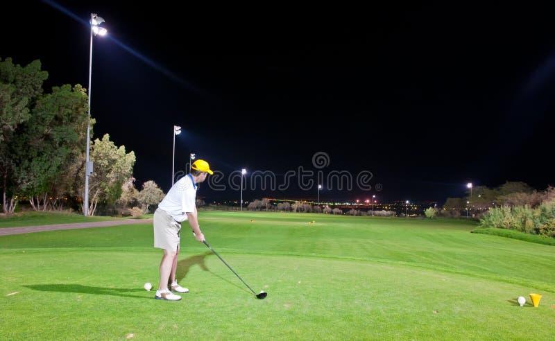 νύχτα γκολφ στοκ εικόνες με δικαίωμα ελεύθερης χρήσης