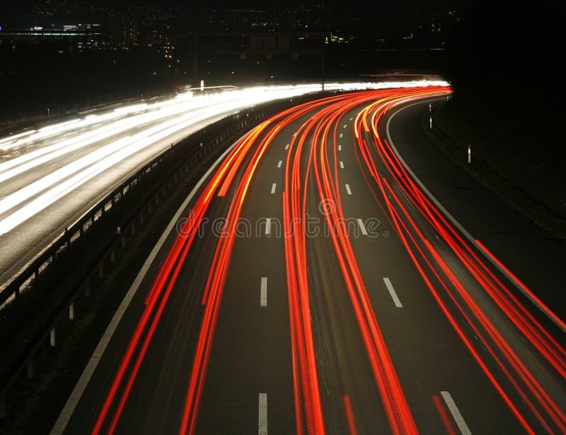 νύχτα εθνικών οδών στοκ φωτογραφίες