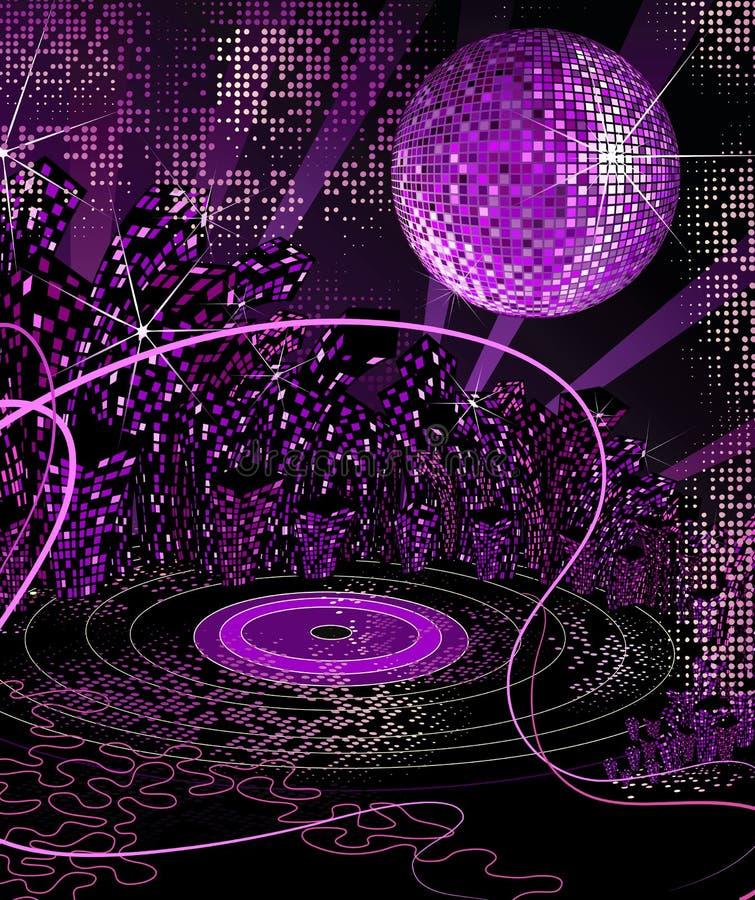 νύχτα ζωής disco αστική απεικόνιση αποθεμάτων