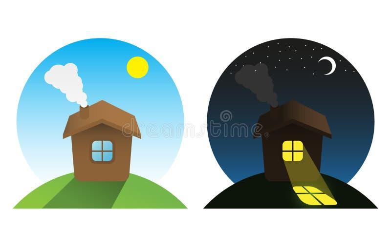 νύχτα ημέρας διανυσματική απεικόνιση