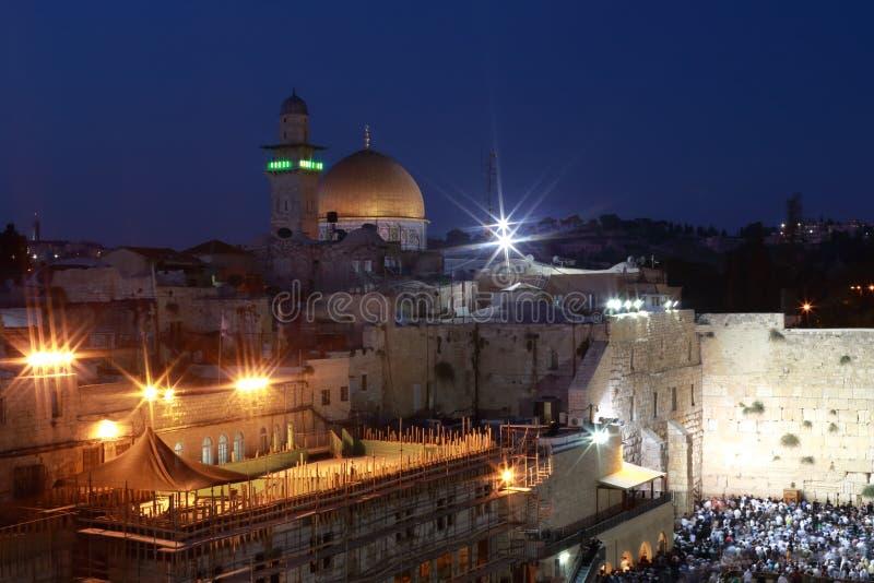 Νύχτα Ιερουσαλήμ στοκ εικόνες
