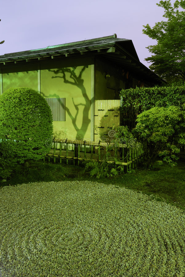 νύχτα κήπων zen στοκ φωτογραφίες με δικαίωμα ελεύθερης χρήσης