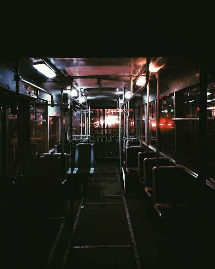 Νύχτα Κίεβο και public's μεταφορά στοκ φωτογραφία με δικαίωμα ελεύθερης χρήσης