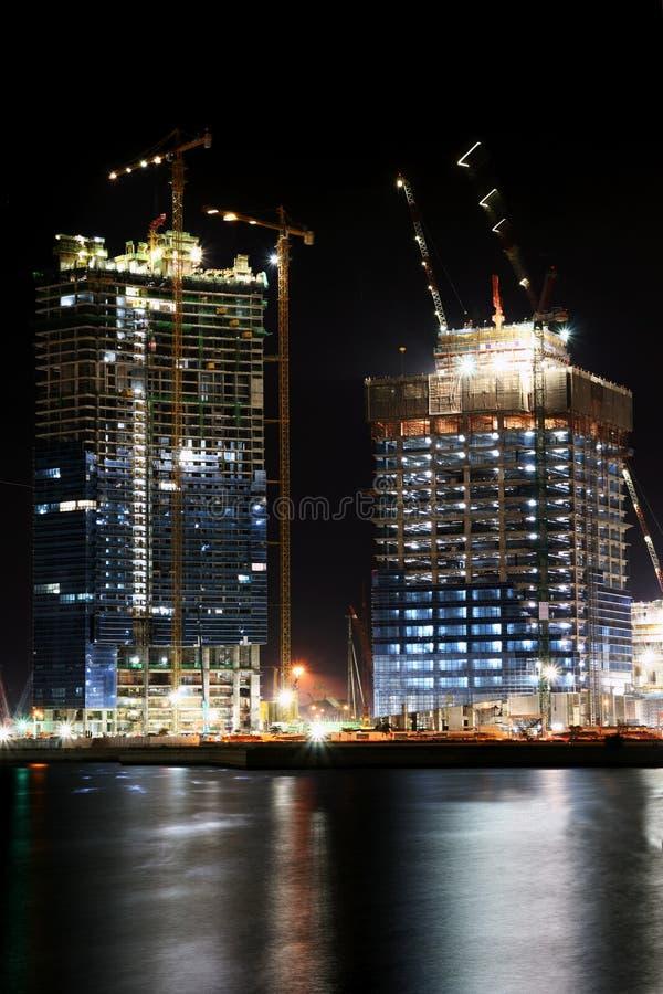νύχτα κατασκευής στοκ εικόνες