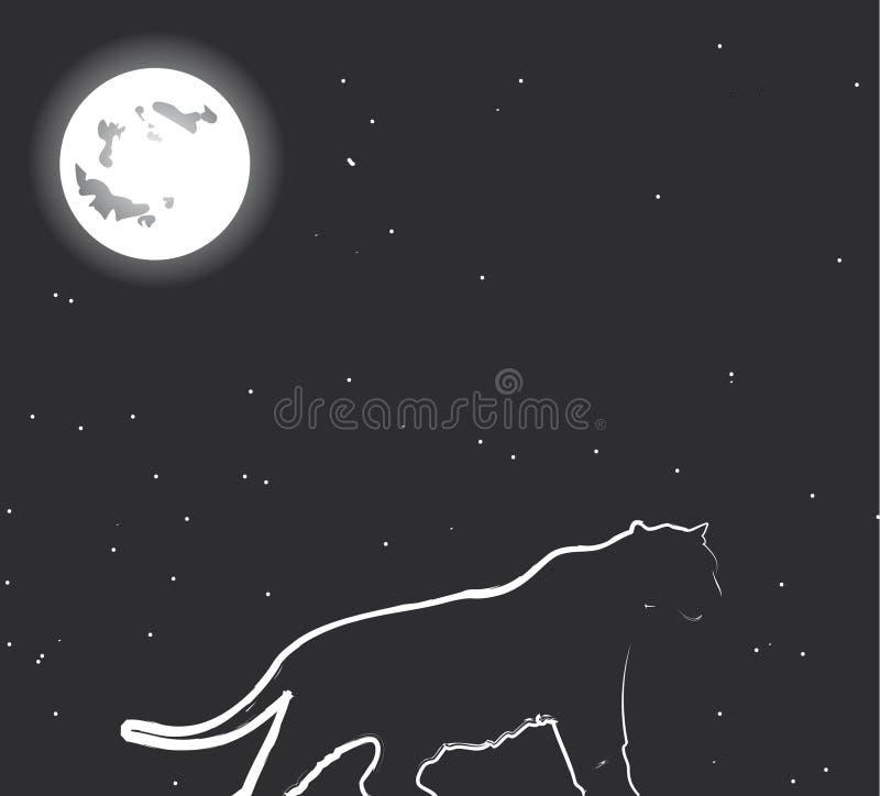 νύχτα κυνηγών στοκ εικόνα με δικαίωμα ελεύθερης χρήσης