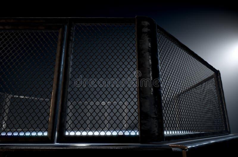 Νύχτα κλουβιών MMA διανυσματική απεικόνιση