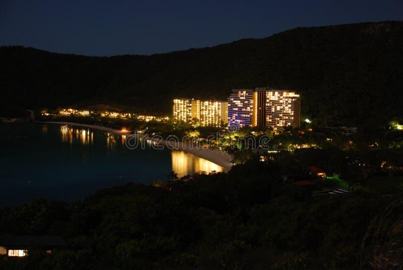 νύχτα νησιών του Χάμιλτον στοκ εικόνες
